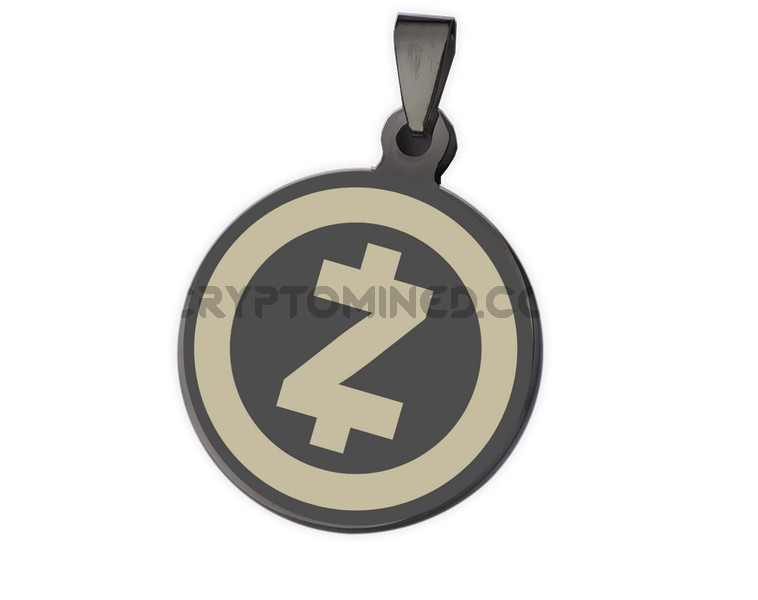ZCash Black QR Wallet Pendant for Necklace